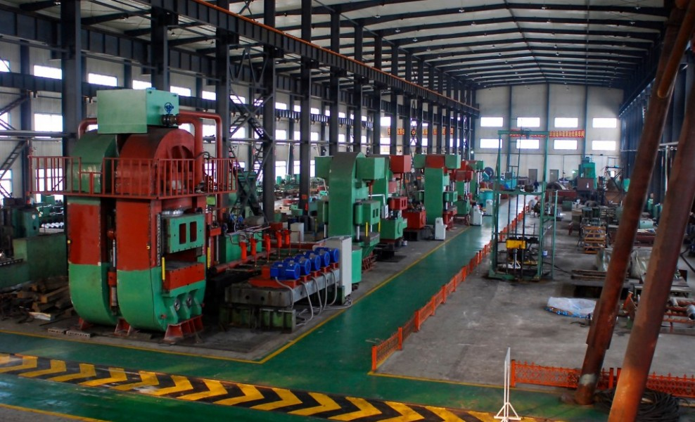 The presses will be delivered. The pictures showed finished or almost finished presses. From left to right, they are 24000T press, 10000T press, 12000T press, 12000T press, 3000T press, 6000T press.