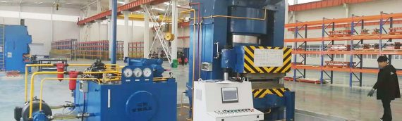 SYHP 12000 ton Heat Exchanger Press is installing in customer factory