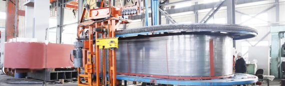 SYHP Produce 20,000 ton Heat Exchanger Press Frame by Wire Winding Technology